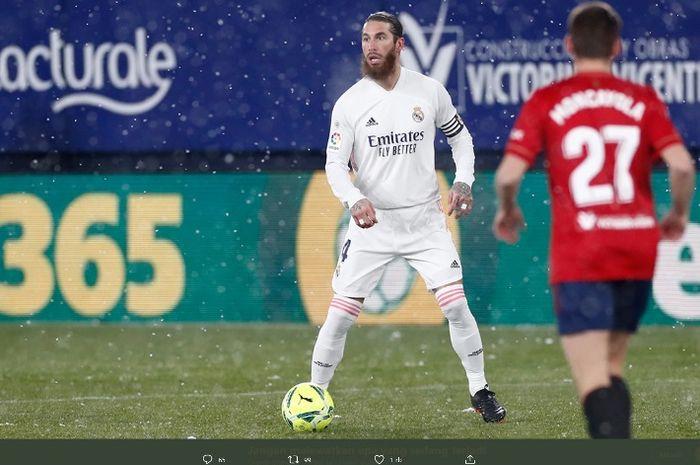 Bek Real Madrid, Sergio Ramos, dikabarkan sedang diincar oleh Paris Saint-Germain.