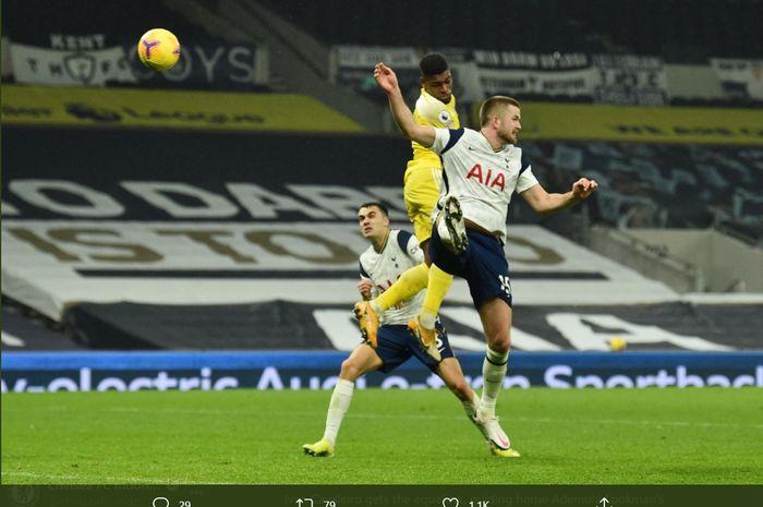 Tottenham Hotspur harus puas bermain imbang 1-1 melawan Fulham di Tottenham Hotspur Stadium pada laga pekan ke-18 Liga Inggris 2020-2021.