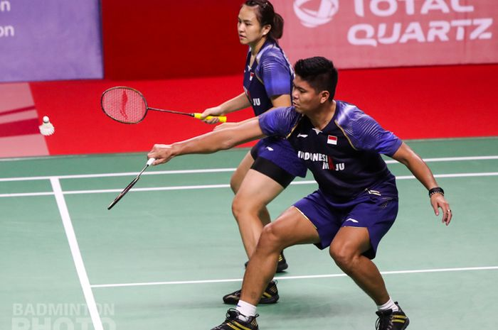 Aksi Praveen Jordan/Melati Daeva Oktavianti pada final Thailand Open I 2021, Minggu (17/1/2021)