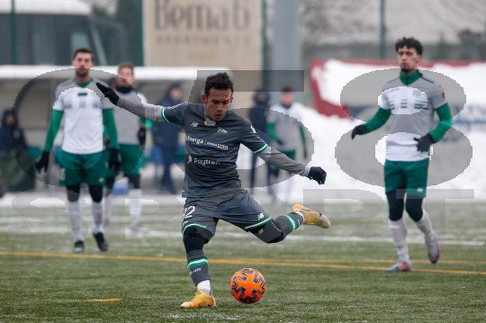 Pemain muda Indoesia, Egy Maulana Vikri mencetak 1 gol dan 1 assist dalam laga ujicoba Lechia Gdansk melawan klub kasta kedua Olympia Grudziadz di Sopot, Selasa (19/1/2021).