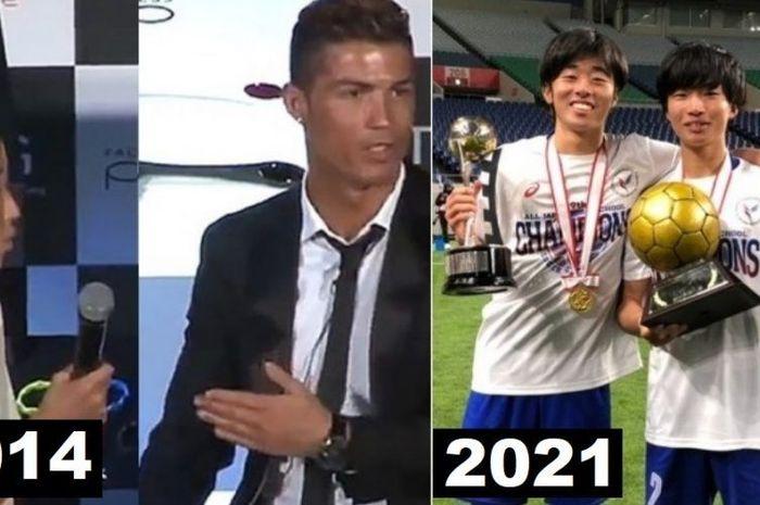 Bocah asal Jepang, Ryota Iwaoka yang pernah dibully karena ingin mencoba berbicara bahasa Portugis dengan Cristiano Ronaldo menjadi juara nasional.