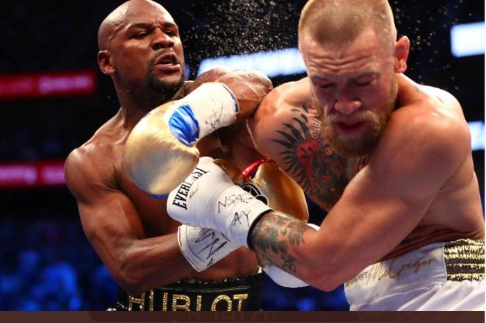 Duel Floyd Mayweather vs Conor McGregor (2019) berujung kekalahan Conor McGregor