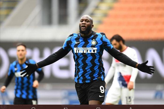 Penyerang Inter Milan, Romelu Lukaku, dilaporkan menjadi incaran Manchester CIty pada bursa transfer musim dingin 2021.