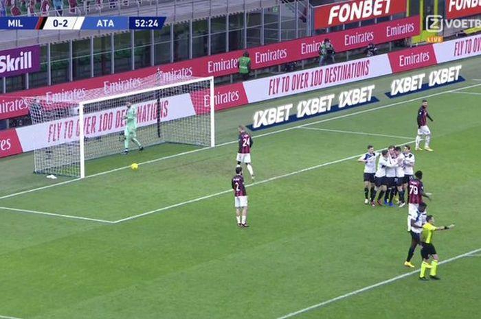 Zlatan Ibrahimovic tutup muka, AC Milan hancur lebur di Stadion San Siro saat menjamu Atalanta dalam laga Liga Italia.