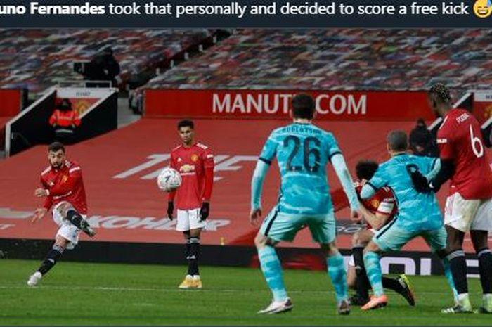 Bruno Fernandes sah menjadi manusia tertajam di Inggris usai menjadi pahlawan kemenangan Manchester United atas Liverpool.