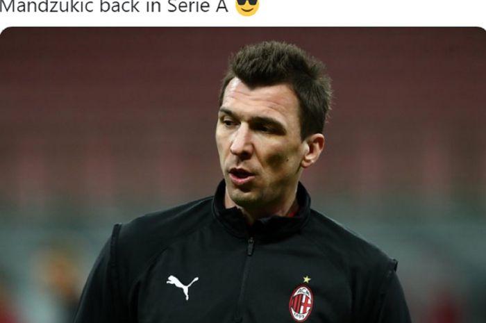Penyerang AC Milan, Mario Mandzukic.