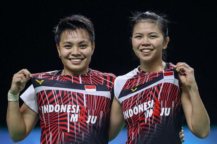 Tim ganda putri Indonesia, Greysia Polii dan Apriyani Rahayu.