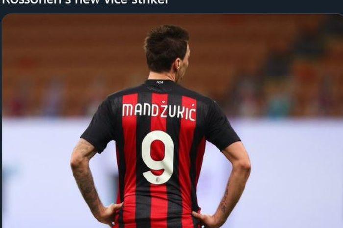 Mario Mandzukic direkrut AC Milan pada bursa transfer Januari 2021.