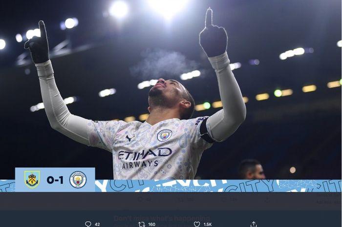 Pelatih Manchester City, Pep Guardiola, mengatakan penyerang timnya, Gabriel Jesus, perlu lebih sering mencetak gol untuk memacu kepercayaan dirinya.