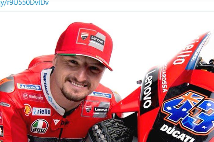 Jack Miller dalam peluncuran resmi tim Ducati Lenovo untuk MotoGP 2021.