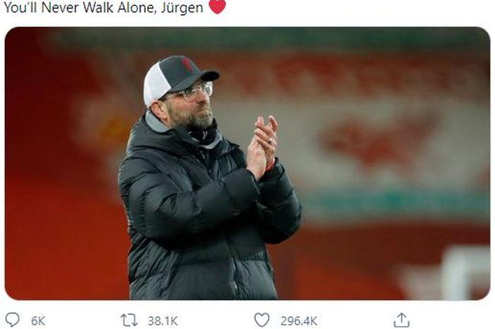 Ibunda pelatih Liverpool, Juergen Klopp, baru saja meninggal dunia dan Man United pun mengirimkan pesan belasungkawa.