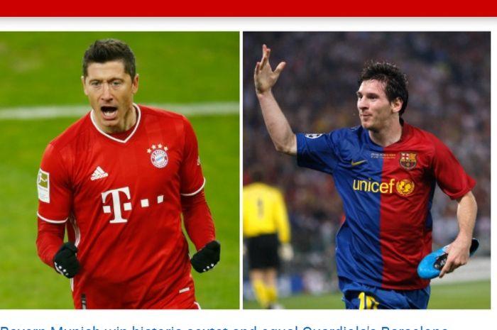 Barcelona dan Bayern Muenchen mencatat rekor sebagai klub yang memenangkan gelar terbanyak dalam semusim.