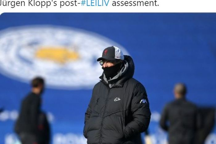 Pelatih Liverpool, Juergen Klopp, menilai tiga pemain Leicester City offside dalam gol pertama. Klopp juga kesal anak-anak asuhnya tidak teriak.