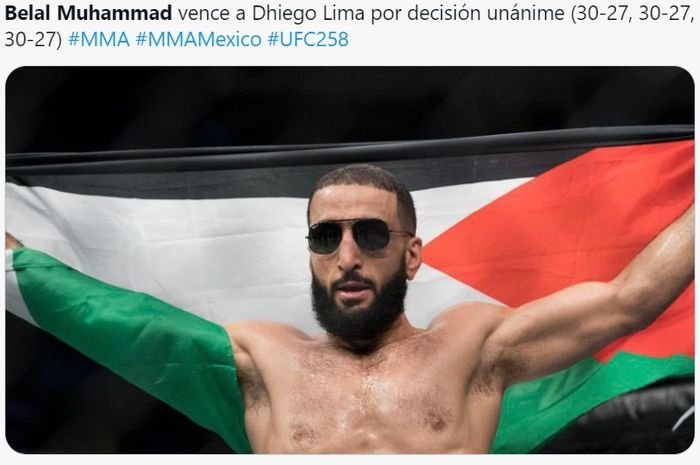 Petarung Muslim, Belal Muhammad, mengalahkan Dhiego Lima di UFC 258, Minggu (14/2/2021) WIB di Las Vegas.