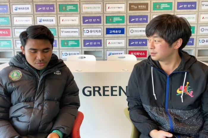 Asnawi Mangkualam saat diwawancari oleh Sports G Korea, Rabu (17/2/2021).