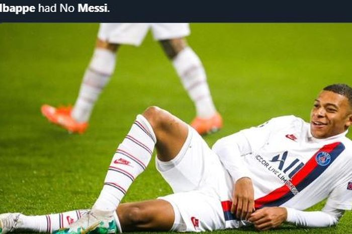 Kylian Mbappe mencetak gol dalam kemenangan PSG atas Barcelona di Liga Champions.