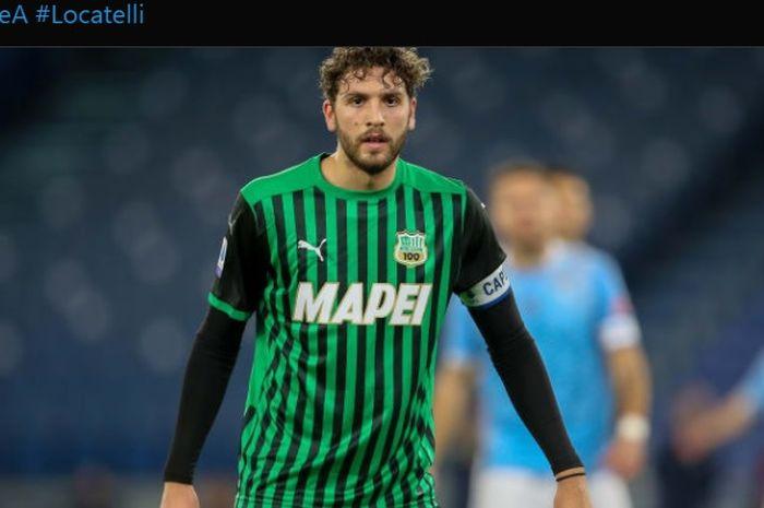 Gelandang bertahan jebolan akademi AC Milan, Manuel Locatelli.