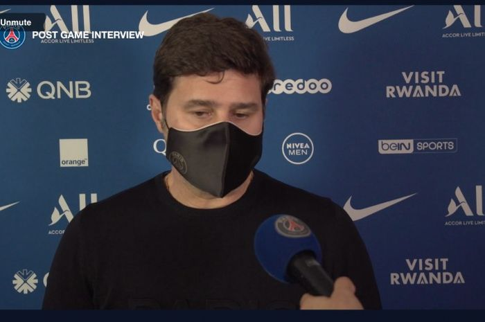 Pelatih Paris Saint-Germain, Mauricio Pochettino.