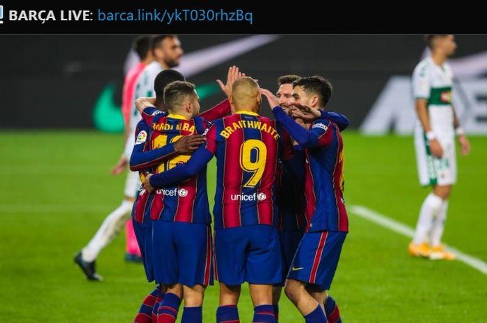 Benamkan Elche, Lionel Messi cs Bungkam Kritikan L
