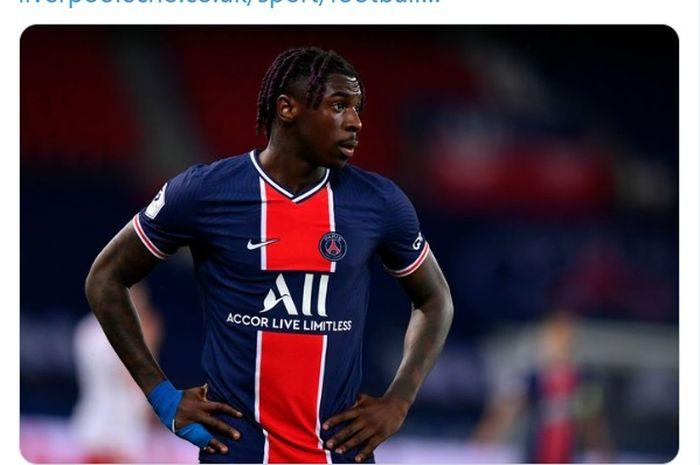 Penyerang Everton yang sedang dipinjamkan ke Paris Saint-Germain, Moise Kean.