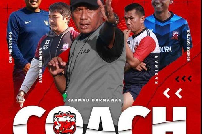 Komposisi tim pelatih baru Madura United musim 2021.