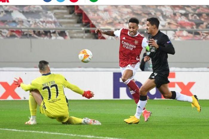 Arsenal berhasil melaju ke babak 16 besar Liga Europa setelah menaklukkan Benfica dengan agregat 4-3 pada babak 32 besar.