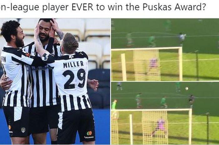 Striker Liga Inggris seharga Rp 5,3 juta mencetak gol kungfu dan langsung menjadi kandidat pemenang FIFA Puskas Award 2021.