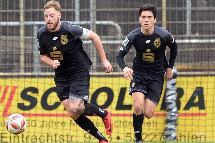 Gelandang timnas U-19 Indonesia, Kelana Mahessa, menjalani debutnya sebagai starter bersama Bonner SC di kasta keempat Liga Jerman 2020/2021.