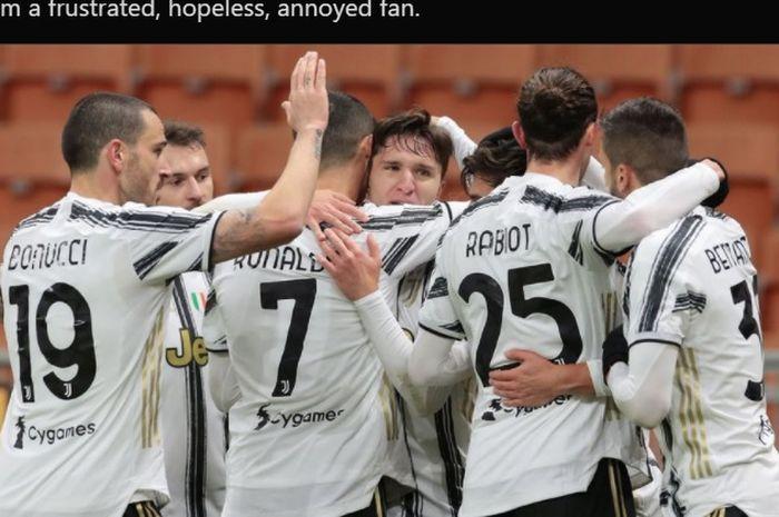 Juventus hanya mampu memetik satu poin ketika bermain imbang 1-1 melawan Hellas Verona dalam lanjutan laga Liga Italia 2020-2021.