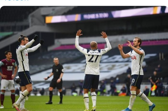 Anak pungut Mourinho dari Real Madrid, putus rentetan kekalahan beruntun di dua pertandingan terakhir Tottenham Hotspur di Liga Inggris.