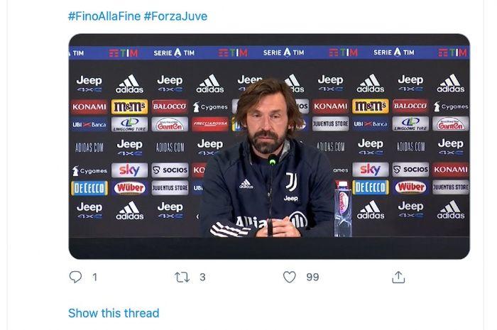 Kesal dengan Pertanyaan Reporter TV, Andrea Pirlo:
