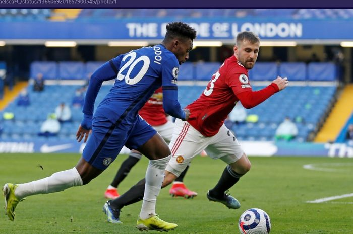 Manchester United mandul di babak pertama sehingga rekor nirbobol Chelsea dalam laga kandang Liga Inggris masih terjaga.