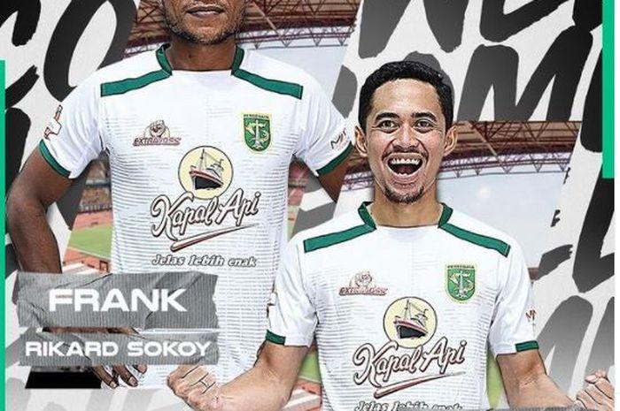 Pemain anyar Persebaya, Reva Adi Utama dan Frank Rikard Sokoy.
