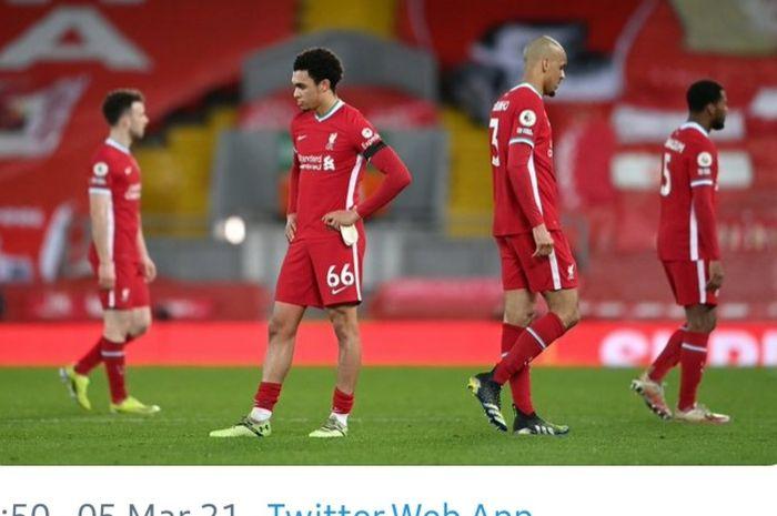 Liverpool menjadi juara Liga Inggris terburuk sepanjang sejarah setelah kalah dari Chelsea pada pekan ke-26.