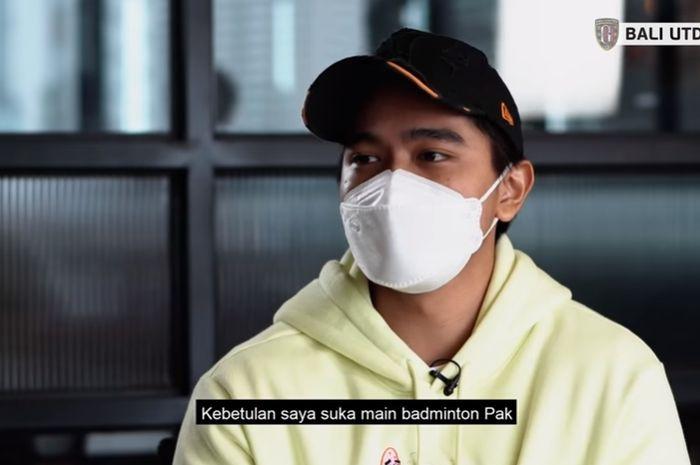 Kaesang Pangarep saat menjalani wawancara kerja dengan CEO Bali United Yabes Tanuri (6/3/2021).