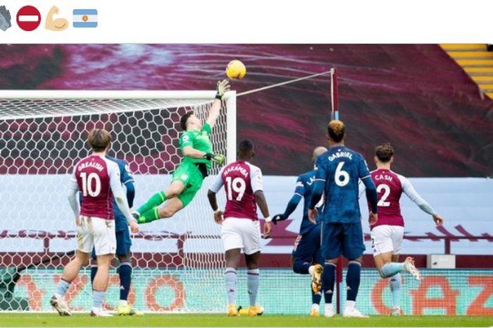 Kiper Aston Villa, Emiliano Martinez, mengungkapkan kekecewaannya setelah dirinya dibuang tim asal London, Arsenal.