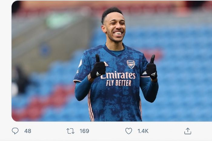 Arsenal hanya bermain 1-1 melawan Burnley pada pertandingan di Liga Inggris, Sabtu (6/3/2021) walau tampil lebih mendominasi.