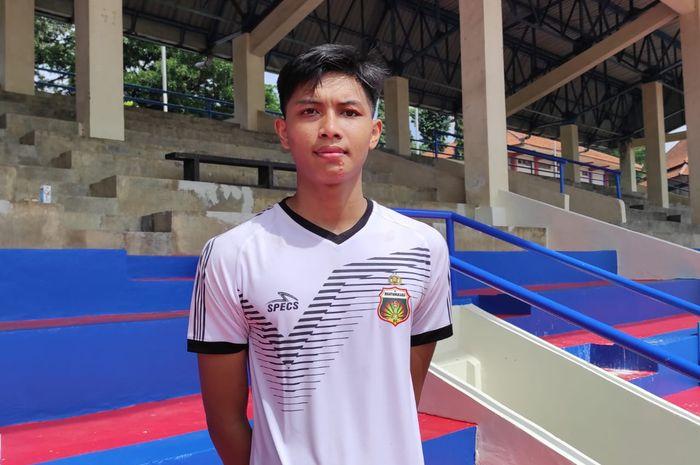 Pemain trial Bhayangkara Solo FC, Muhammad Wahyu Cahyanto.