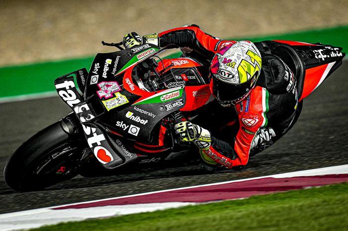 Aleix Espargaro beri kejuran pada hari pertama tes pramusim MotoGP Qatar 2021