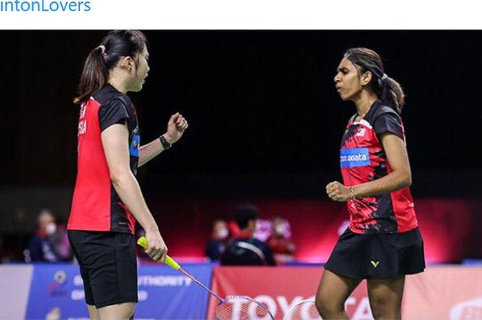 Pasangan ganda putri Malaysia, Pearly Tan/Thinaah Muralitharan memberi kejutan di Swiss Open 2021.