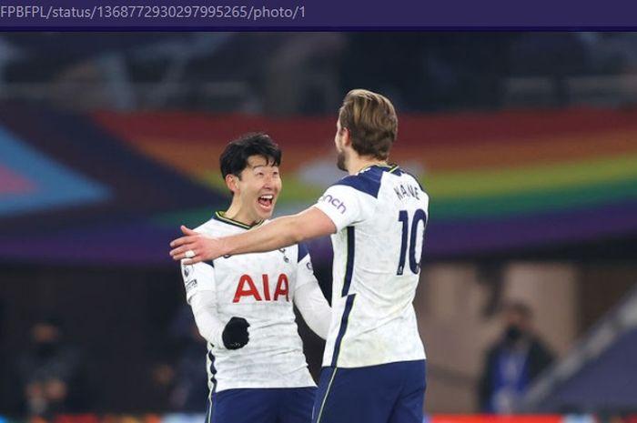 Dua pemain Tottenham Hotspur, Harry Kane dan Son Heung-min, menjadi pasangan paling garang dalam semusim, mengalahkan duet legendaris Liga Inggris.
