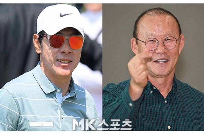 Shin Tae-yong dan Park Hang-seo, dua pelatih dari Korea Selatan yang bersaing di Asia Tenggara dengan bendera Timnas Indonesia dan Timnas Vietnam.