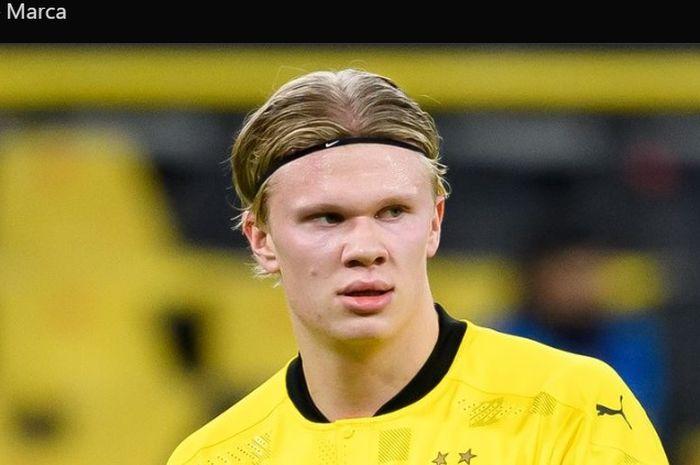 Penyerang Borussia Dortmund, Erling Haaland.