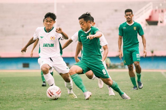Persebaya Surabaya Ditahan Imbang Tim PON Jatim dalam laga uji coba.
