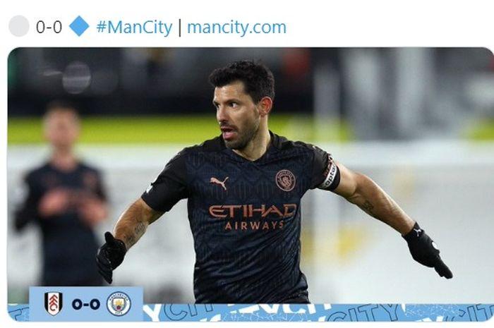 Penyerang Manchester City, Sergio Aguero