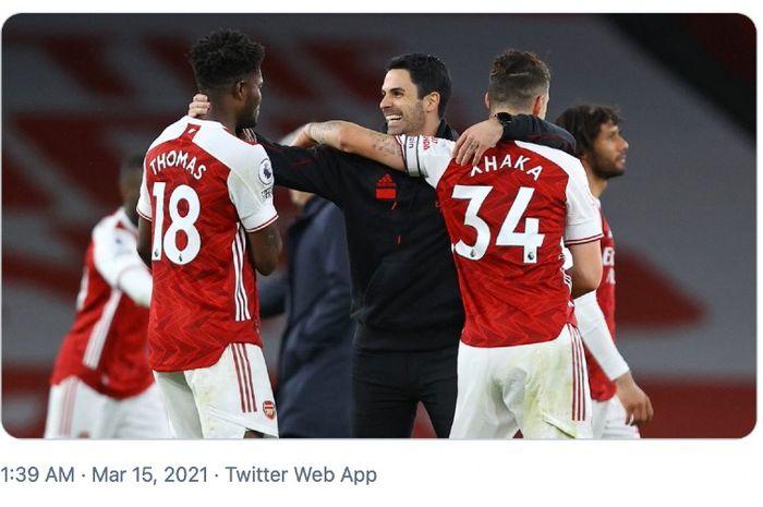 Pelatih Arsenal, Mikel Arteta, tak menampik perasaan senangnya usai mengalahkan Tottenham Hotspur pada lanjutan Liga Inggris.