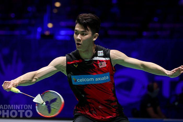 Aksi Lee Zii Jia pada babak perempat final All England Open 2021, Jumat (19/3/2021)
