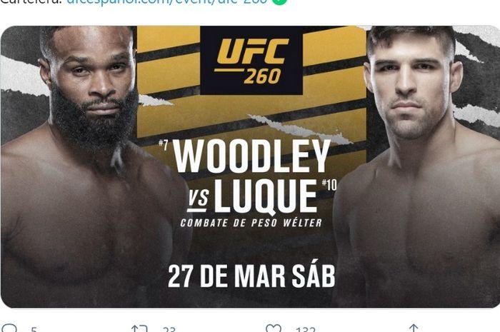 Tyron Woodley vs Vicente Luque di UFC 260.