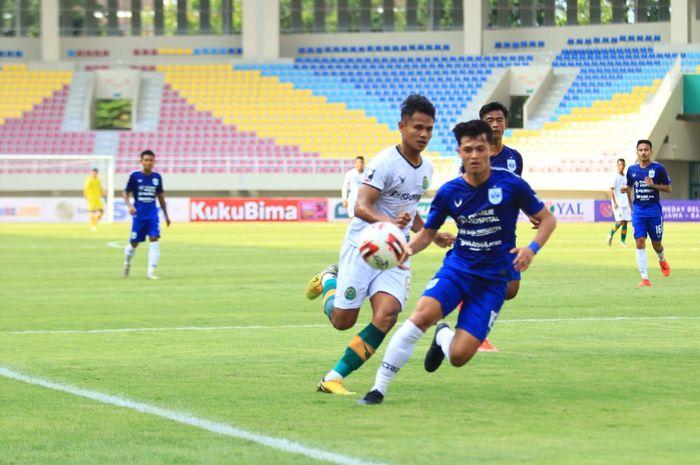 PSIS Semarang vs Tira Persikabo, laga penyisihan Grup B, PIala Menpora 2021, di Stadion Manahan, Surakarta, Kamis (25/3/2021).