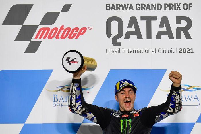 Maverick Vinales juara MotoGP Qatar 2021.
